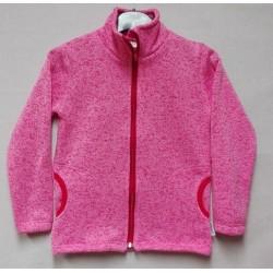 Mikina dívčí - svetrová  růžová