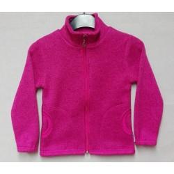 Mikina dívčí - svetrová  tmavá růžová
