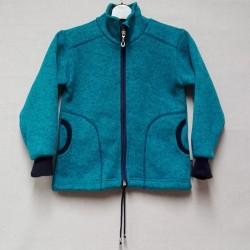 Mikina chlapecká - svetrová tyrkysová