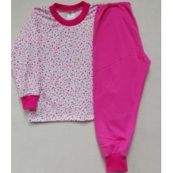 Pyžamo růžové - puntík