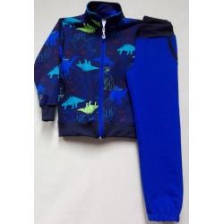 Tepláková souprava chlapecká-modrá-dinosauři