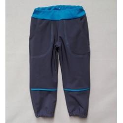 Kalhoty softshel - šedo-tyrkysové