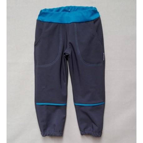 Kalhoty softshel - šedo-tarkysové