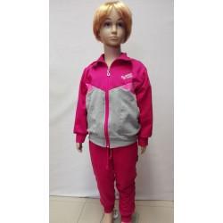 Tepláková souprava dívčí - růžovo-šedá