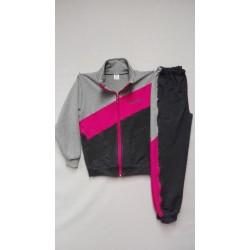 Tepláková souprava dívčí - šedo-růžová