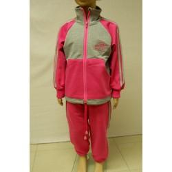 Tepláková souprava dívčí - růžovo-šedý melír