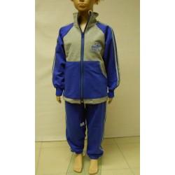 Tepláková souprava chlapecká -  modro-šedý proužek