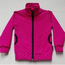 Mikina  růžová - puntík