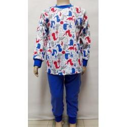 Pyžamo modré - dinosaurus